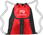 Vertical Sport Polyester Drawstring Bags